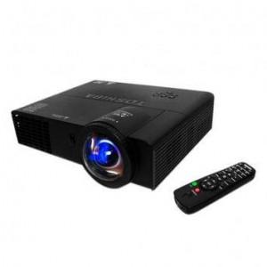 Videoproiector de calitate negru cu telecomanda