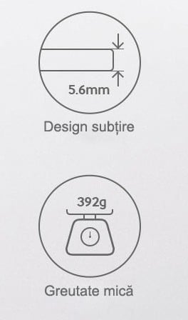 Tableta design subtire greutate mica