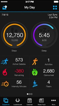 Garmin Connect App Vivosmart HR